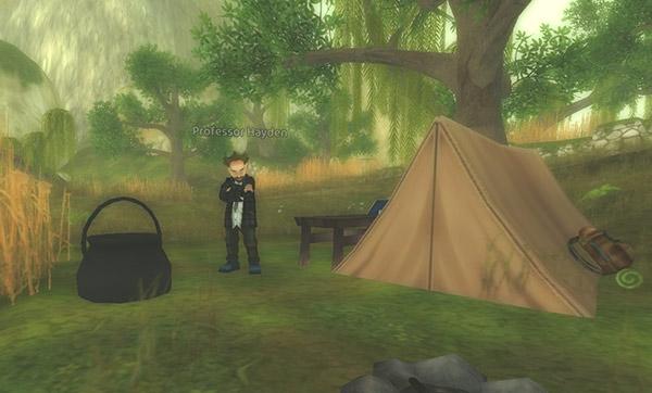 Camp de Hayden dans le marais du Mirroir