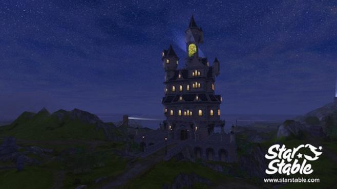 Château de Silverglade de nuit